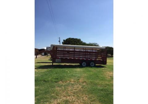 20 ft Stock trailer