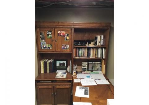 Office and Storage Desk Set. (All Wood)