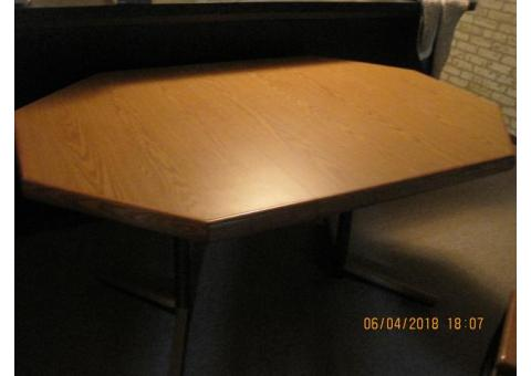 Octagon Solid Pecan Dining Table