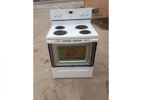 New electric stove